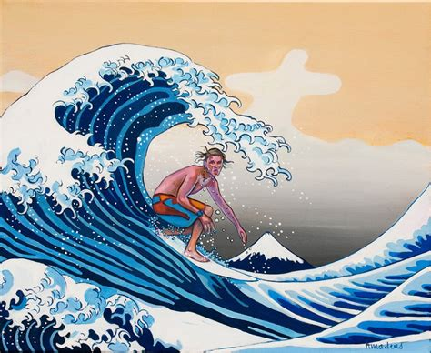 acrylic paint japanese the great wave amadeus series figures painting surfing