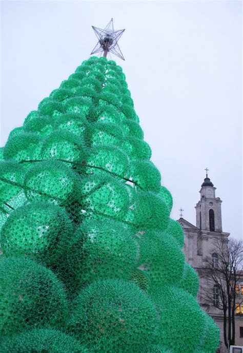 weihnachtsbaum aus plastik a frugal town in lithuania erects a tree made