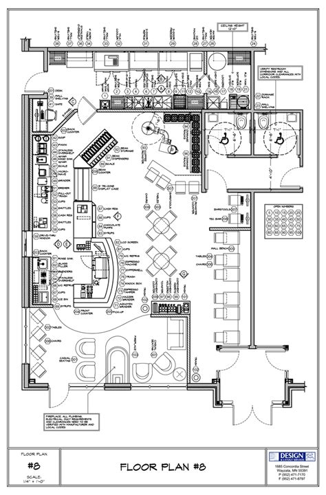 coffee shop floor plans free free autocad furniture plans project shed