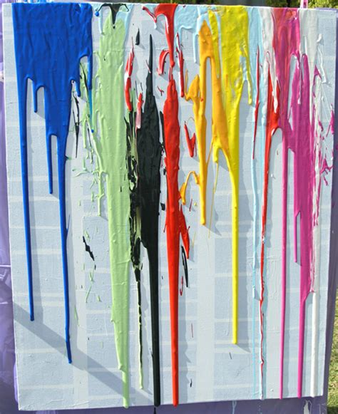 how to drip acrylic paint on canvas with paint childhood101