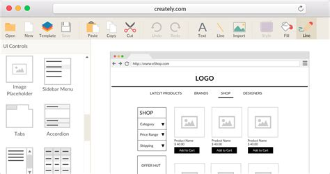 best online wireframe tool online wireframe and ui mockup tool creately