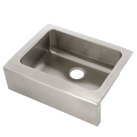 kitchen sink with apron elkay lustertone farmhouse apron front stainless steel 25
