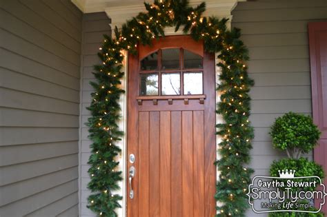 how to decorate your front door for how to decorate your front door garland for