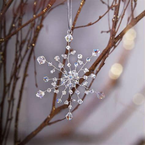 handmade decoration handmade snowflake decoration by rosie willett