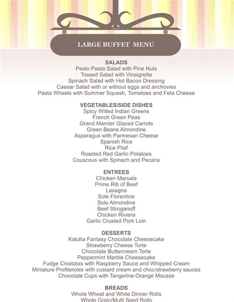 wedding buffets menus 82 buffet style wedding menu pictures of pretty
