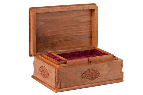 Walnut Wood Jewelry Box Asran Decor