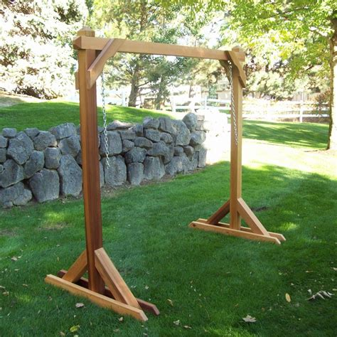 wood country red cedar outdoor swing frame 4bs 1