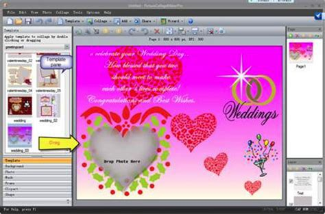 How To Make A Wedding Invitation Card With Picture Collage