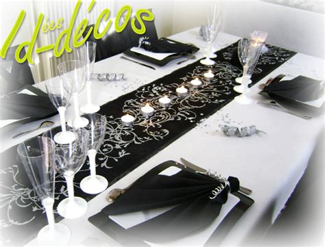 d 233 coration table th 232 me baroque noir blanc argent