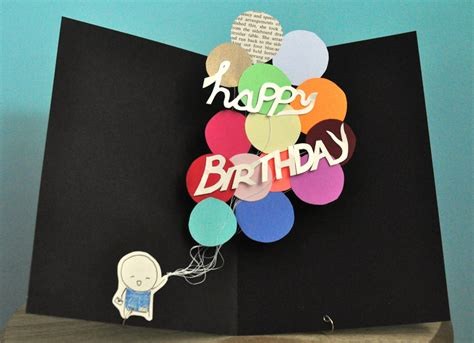 up birthday cards pop up birthday card balloons by studiosmo on etsy