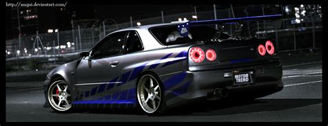 2 Fast 2 Furious Car Wallpaper by Brian Skyline 2fast2furious By Anqui On Deviantart