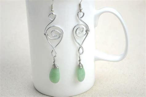 jewelry earring ideas jewelry designs ideas handcrafted earrings with jade drop