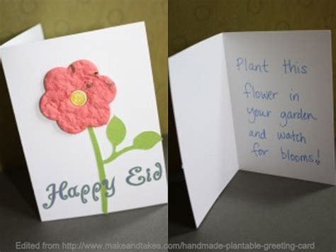 how to make eid cards at home make eid cards this year that you can plant green kufi