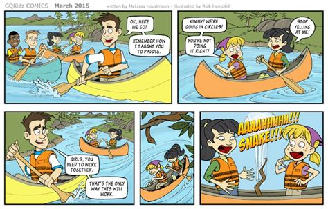 what are comics quot the comical canoe trip quot comic series