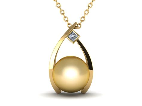 pearl pendants for jewelry golden wish a golden south sea cultured pearl pendant