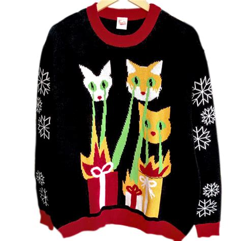 tacky sweater laser cats tacky sweater the sweater