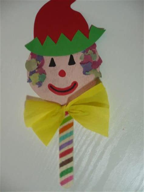 clown crafts for craft stick clown puppet family crafts