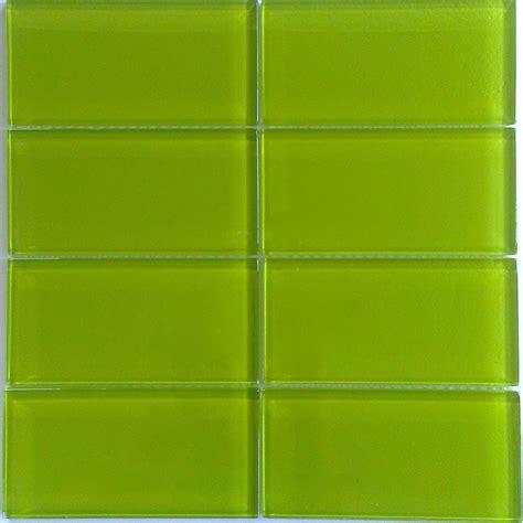 green glass subway tile backsplash bright green glass subway tile in lemongrass modwalls