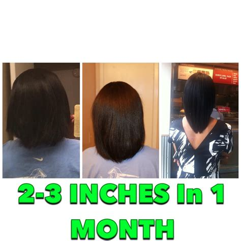 1 inch of hair 2 3 inches hair growth in 1 month youtube