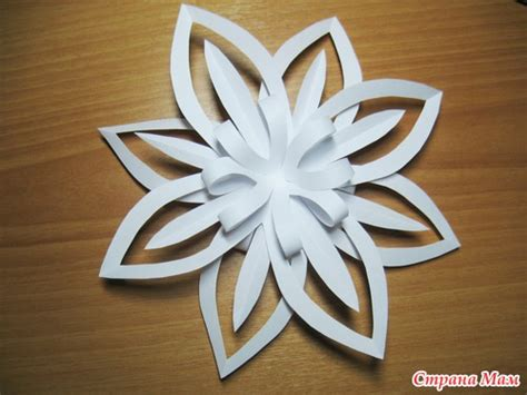 paper snowflake crafts craft ideas paper snowflake flower tutorial
