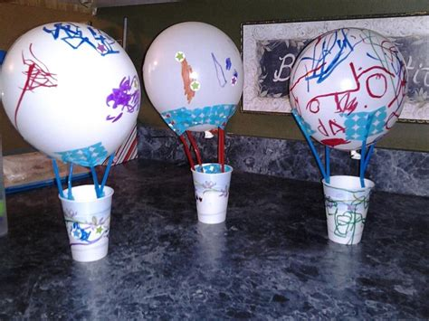 balloon crafts for air balloon craft using a balloon straws paper cup