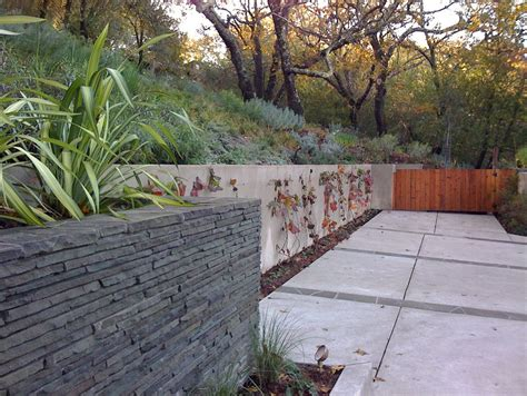 melbourne retaining wall ideas landscape modern with