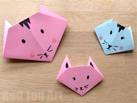 easy paper crafts for children easy origami cats paper crafts for ted s