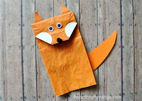 fox crafts for paper bag fox craft for i crafty things