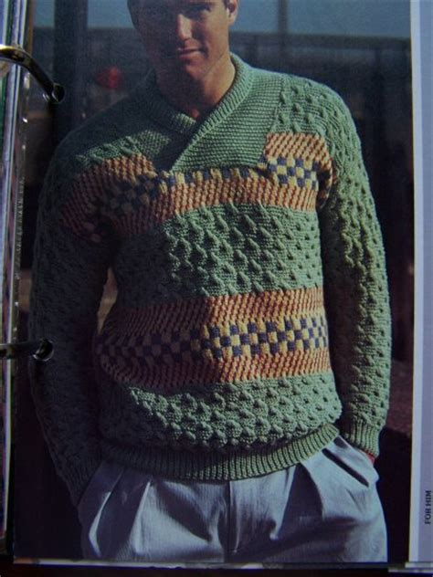 mens fair isle knitting patterns mens fair isle and cable knit pullover sweater knitting