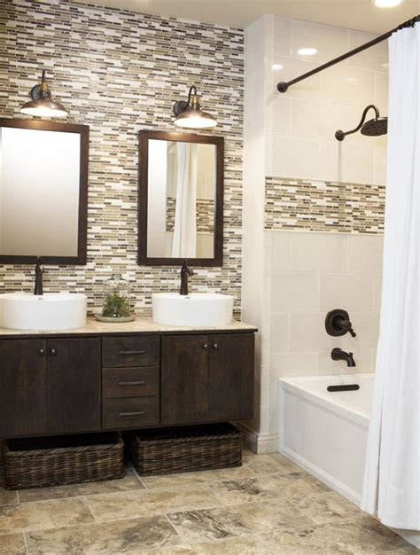 mosaic tile designs bathroom 40 brown mosaic bathroom tiles ideas and pictures
