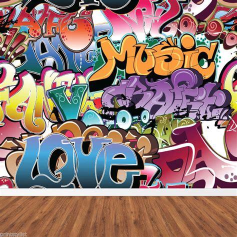 graffiti wall murals retro graffiti artistic background wall mural