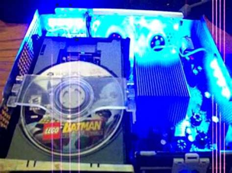 spray paint xbox 360 console modded xbox 360 console w blue led lights and blue fan