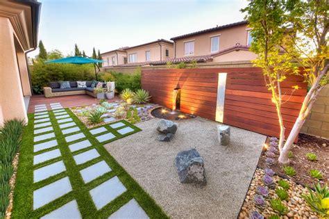 zen rock garden ideas california zen rock garden with ipe wood water feature