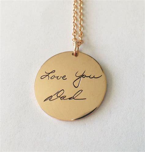 how to make custom gold jewelry custom handwriting gold signature pendant handwriting