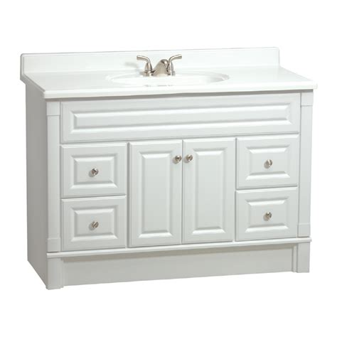 lowes white bathroom vanity shop estate by rsi southport white casual bathroom vanity actual 48 in x 21 in at lowes
