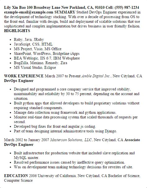 professional executive resume samples professional devops engineer templates to showcase your