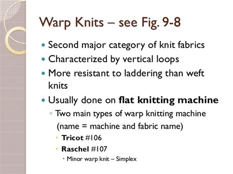 types of warp knitting knitted fabrics and their properties
