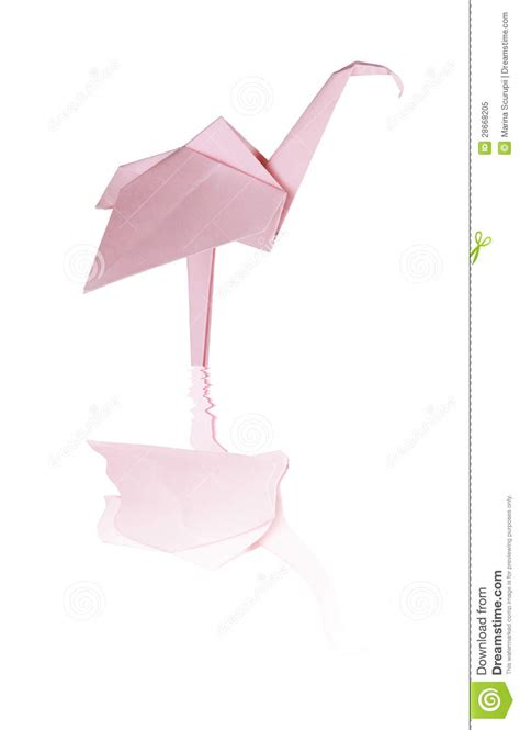 origami flamingo origami pink paper flamingo royalty free stock photo