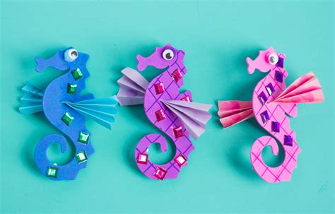 seahorse crafts for make your own seahorses craft
