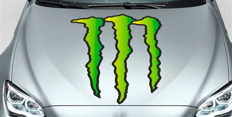 Monster Energy Sticker Truck by Product Monster Energy Drinks Logo Hood Decal Sticker