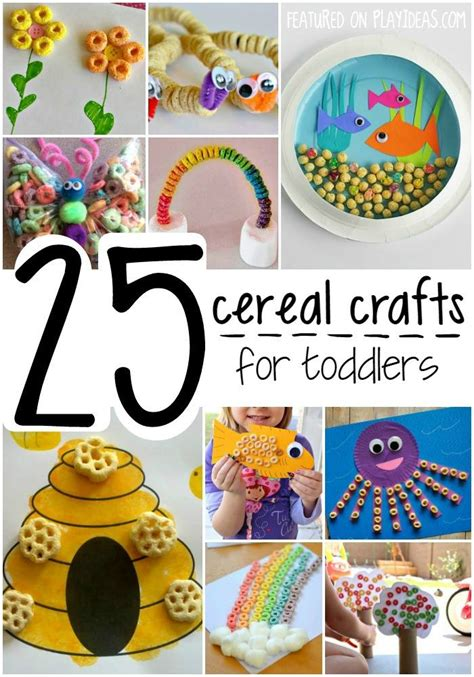 cereal crafts for 25 cereal crafts for toddlers page 23 play ideas