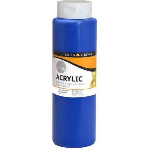 walmart acrylic paint simply acrylic 750ml paint blue walmart