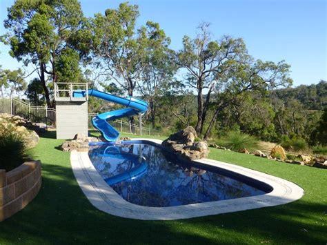 backyard pool slides backyard pool water slides banzai splash blast lagoon