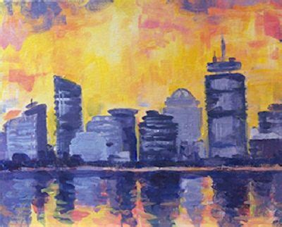 paint nite boston may abstract boston reflection paint nite phx painting
