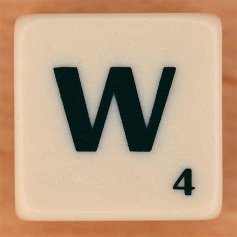 scrabble w scrabble scramble letter w flickr photo