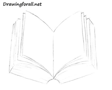 how to draw a picture of a book how to draw a book drawingforall net
