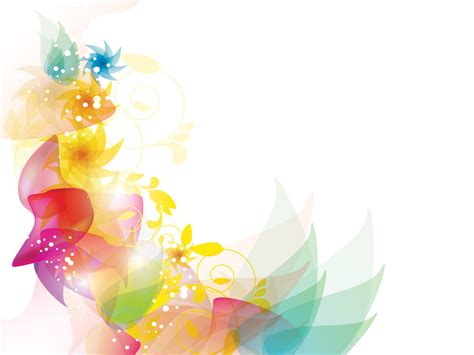 colorful floral powerpoint template is a great abstract