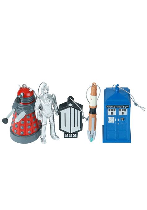 doctor who tree ornaments doctor who 5pc ornament set