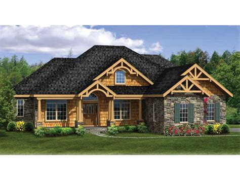 ranch style house plans with walkout basement craftsman ranch with finished walkout basement hwbdo76439 craftsman from builderhouseplans