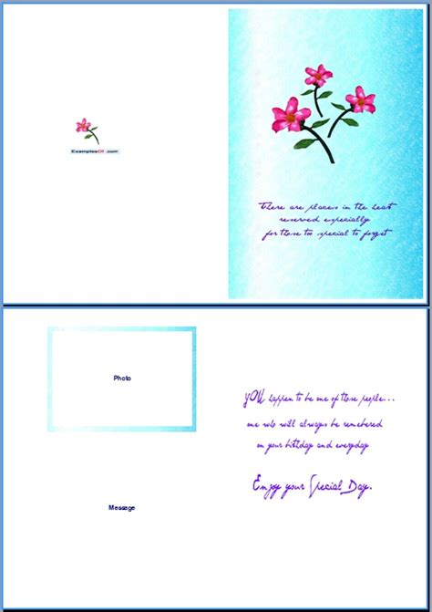 card on microsoft word 6 best images of birthday card templates for word